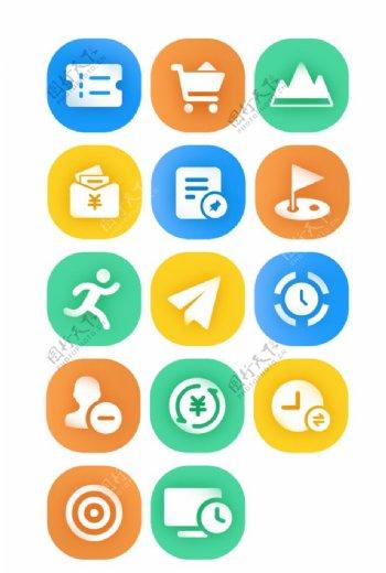 UI彩色面性图标ICON办公图片