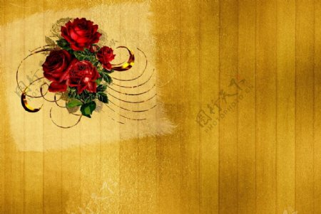 红色花瓣表面玫瑰背景图图片