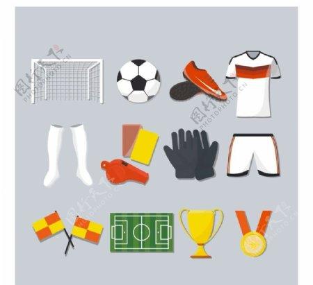 14款精致足球元素设计矢量素材图片