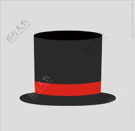 帽子魔术帽绅士帽图片
