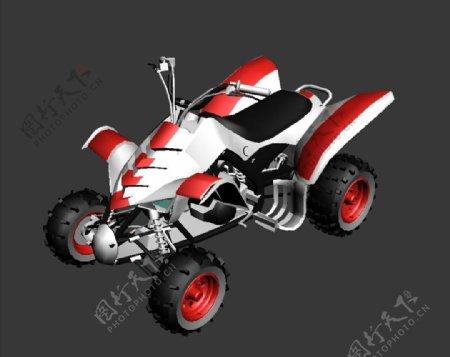 越野摩托3D模型图片