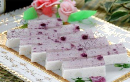 蓝莓山药糕图片
