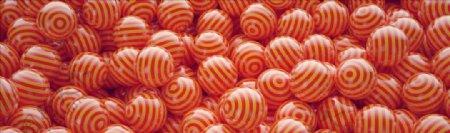C4D模型橙色条纹球图片