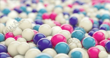 C4D模型球形地板糖果图片