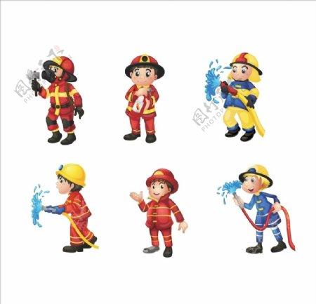 消防卡通人物图片