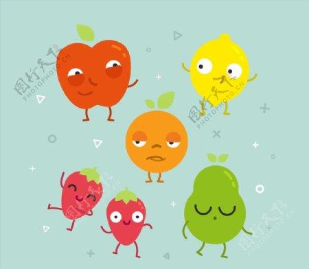 搞怪表情水果图片
