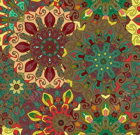 抽象花纹图案背景图片