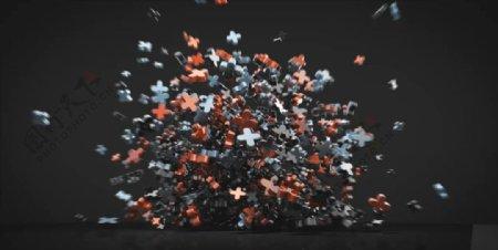 C4D模型动画爆炸的加号图片