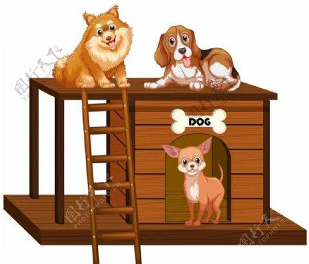 狗动物卡通图片
