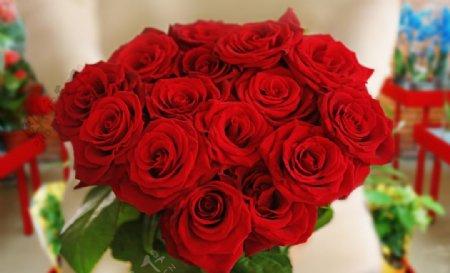 唯美玫瑰花束图片