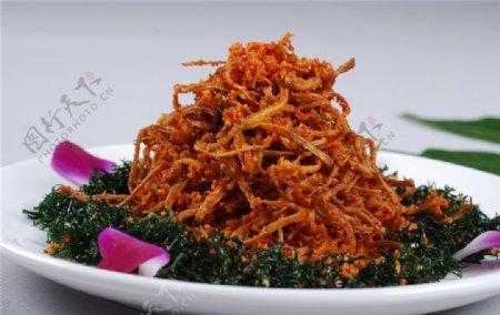 红花茶树菇图片