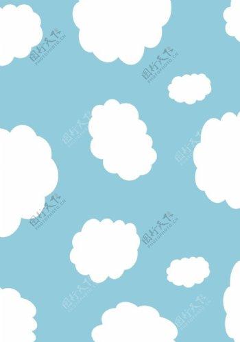 蓝色天空云朵背景图片