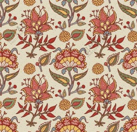 矢量刺绣花朵元素背景图片