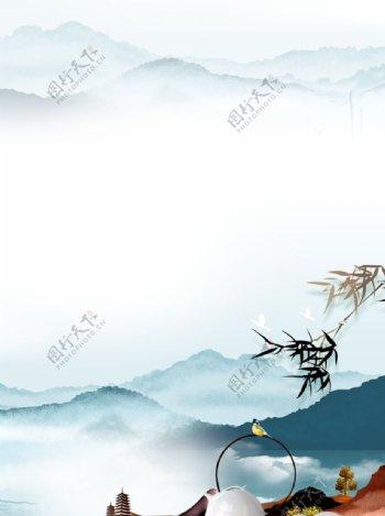 禅意山水图片