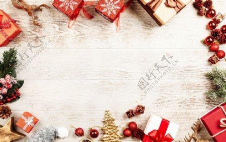 圣诞节板装饰背景图片