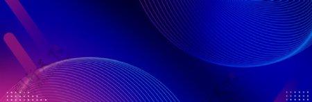 蓝色科技扁平蓝紫色背景图片