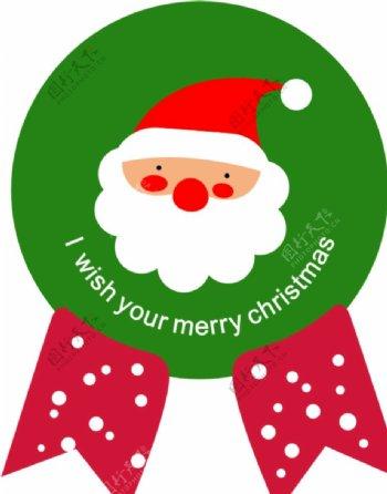圣诞节贴纸圣诞老人图片
