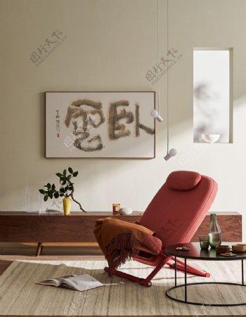 阳光明媚的客厅图片