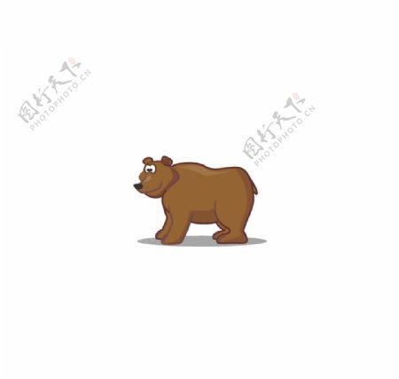 卡通狗熊图片
