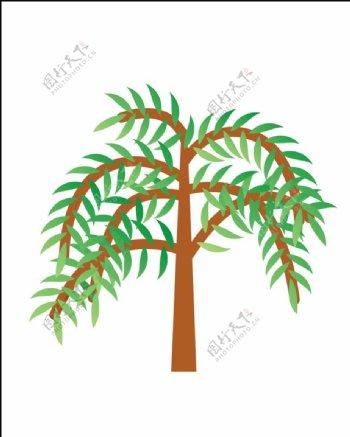 矢量柳树图片