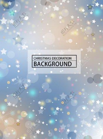 圣诞节星光装饰背景图片