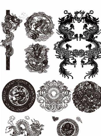 龙纹传统纹样图片