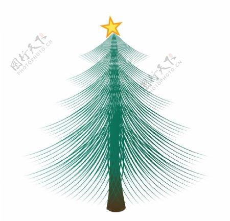 圣诞节装饰树木元素图片