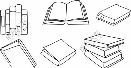 书矢量素材图片