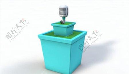 C4D模型话筒房子图片