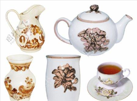 复古茶具PNG高清免抠图片