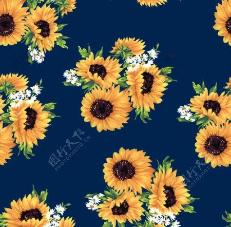 向日葵水彩花图片