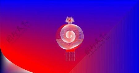 蓝底红色背景素材图片