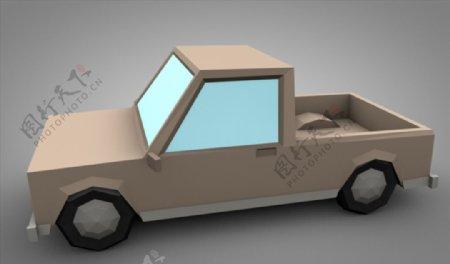 C4D模型像素货车汽车图片