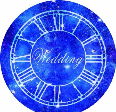 婚礼背景婚礼地贴星空背景图片