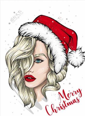 圣诞节女人图片