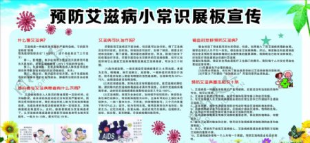 预防艾滋病小常识展板宣传图片