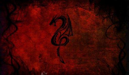 黑龙红背景图片