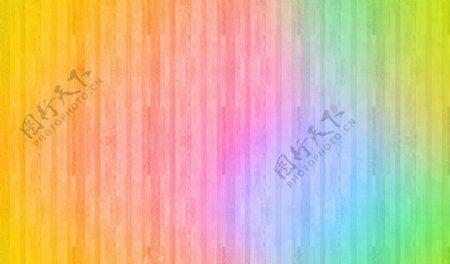 彩色木板背景图片