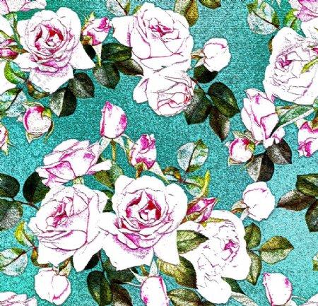 玫瑰花背景墙纸图片