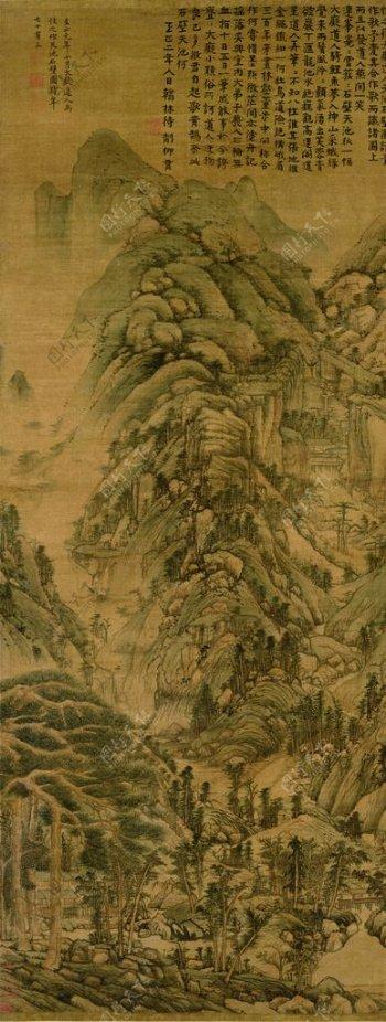 天池石壁图图片