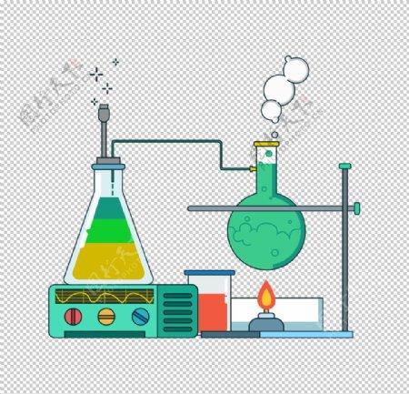 锥形瓶圆底烧瓶化学实验PNG图片
