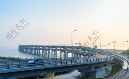 跨海大桥风景图片