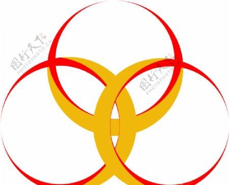 红黄色为主的月牙轮图片