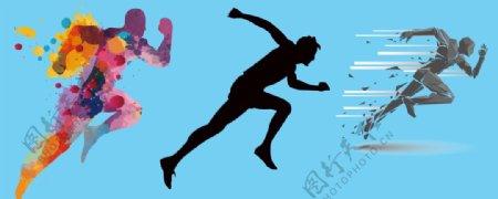 急速跑步的人图片