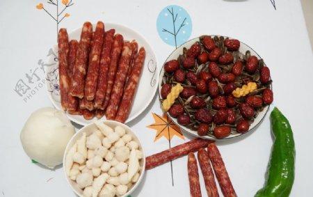 红枣瓜子腊肠图片
