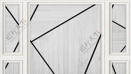 几何造型五宫格背景墙图片