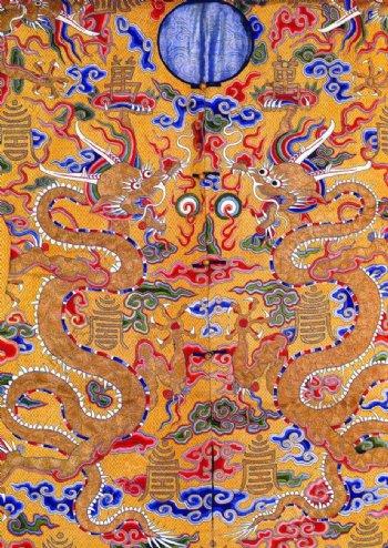 龙纹刺绣图案图片
