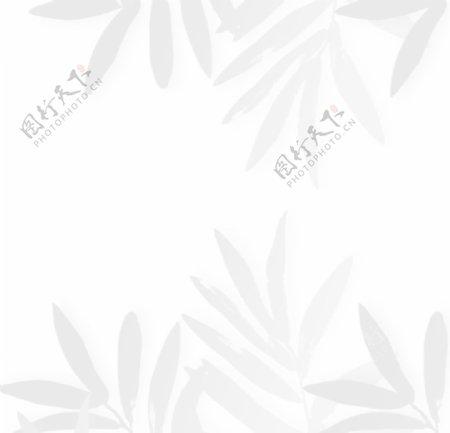 装饰树叶阴影元素图片