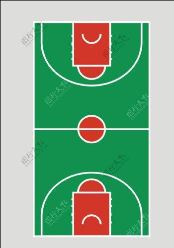 矢量篮球场图片