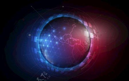 概念地球全球化球形EPS图片